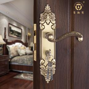 门房门锁执手门锁实木老铜匠欧式仿古