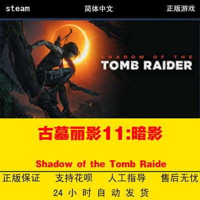 PC中文正版steam游戏 古墓丽影11:暗影Shadow of the Tomb Raide