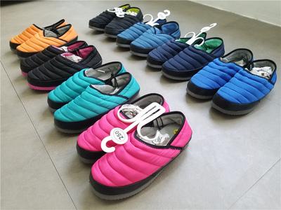 出韩国 男女纯色 情侣 羽绒棉 面包时尚保暖家居鞋棉鞋XX-R347