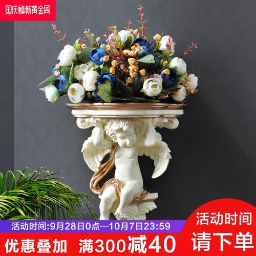 欧式天使壁挂花瓶花插创意家居墙上装饰壁饰挂件立体花盆墙饰挂饰