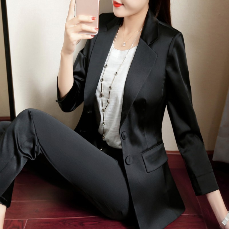 high quality small suit female jacket 2018 autumn new fashion ladies temperament