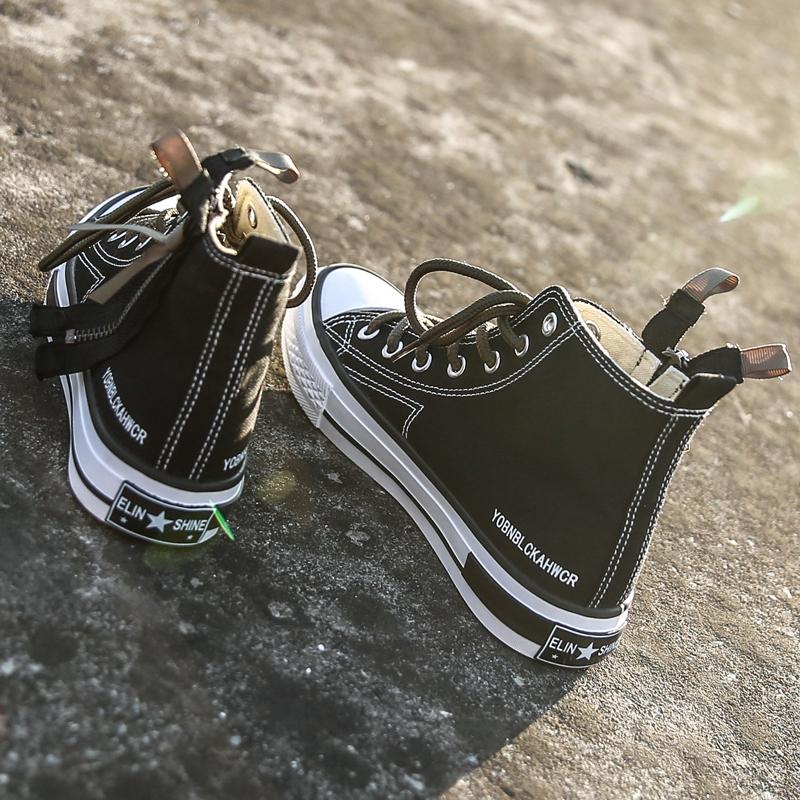 ins超火高帮帆布鞋女学生韩版原宿ulzzang2018新款百搭嘻哈板鞋潮