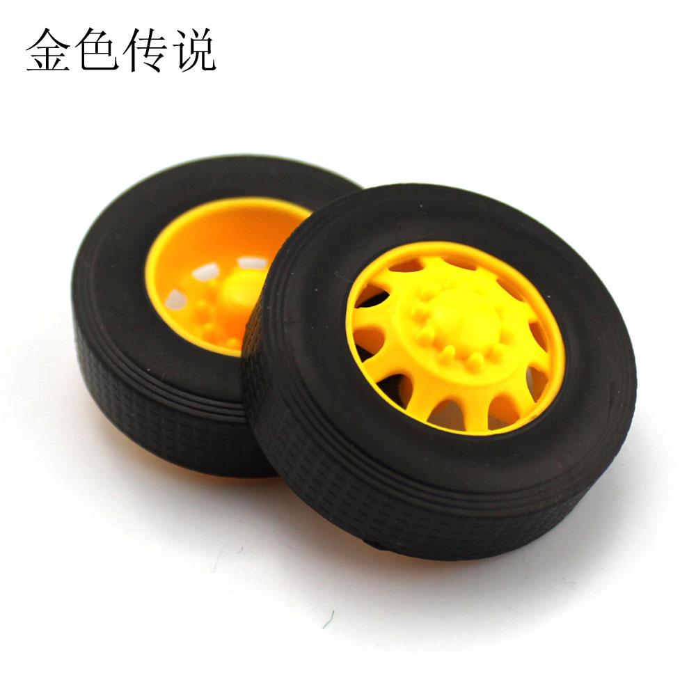 3*42mm卡车橡胶车轮 DIY模型车轮 科技小制作轮子 卡车车轮 模型