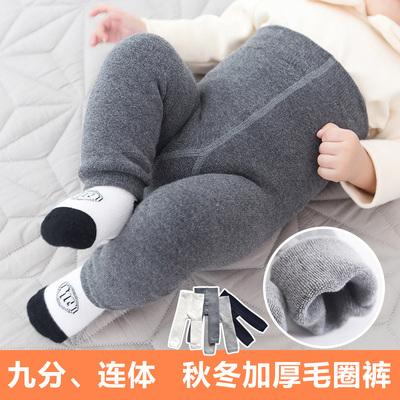 秋冬季男女童纯棉袜加厚宝宝打底裤加绒1-3-5岁婴儿童大PP连裤袜