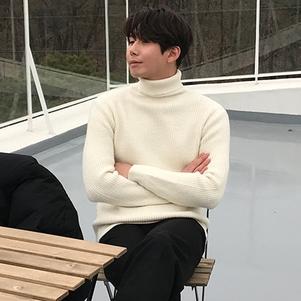 韩国直邮2019新款高领套头毛衣潮流男士春冬季打底针织衫韩版线衣