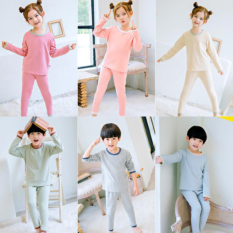 儿童睡衣男童女童空调家居服中大宝宝夏天纯棉套装小男孩夏季薄款