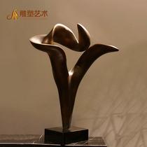 Abstrait en matière plastique renforcée torsadés imitation cuivre sculpture décoration extérieure intérieure maison de l'artisanat décoration accessoires de jardin paysage