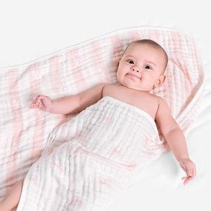 酷尾巴新生儿夏季6层泡泡纱布抱被婴儿薄款包被宝宝纯棉盖毯被子