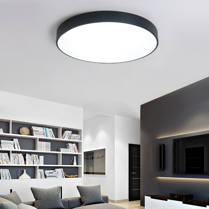 简约极简超薄设计圆形大气客厅书房卧室会议室LED节能调光吸顶灯