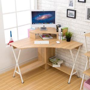 燊腾 电脑桌 台式 家用转角多功能多层现代简约 角落墙角三角桌