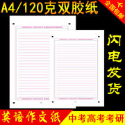 考考考考考研英语作文纸 Answer sheet A4 double sided 24 lines Exam writing paper