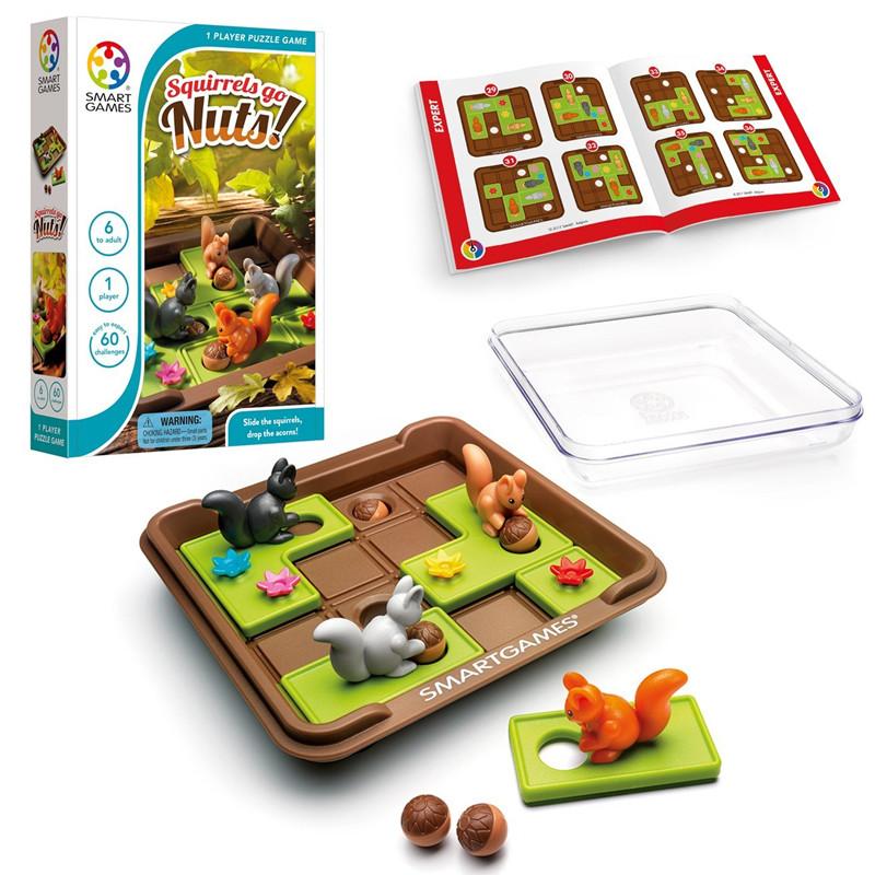 新款 比利时smart games疯狂松鼠 烧脑益智桌游 逻辑思维训练玩具