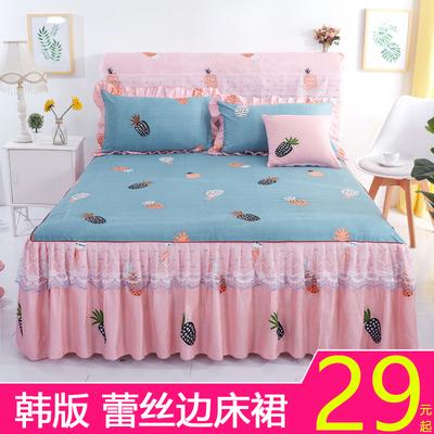 韩版床裙式蕾丝花边床罩床套单件 公主风防尘防滑床单床笠夏季