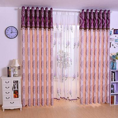 定制窗帘成品现代简约卧室客厅飘窗提花布简欧式遮光温馨高档大气包邮