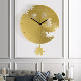 Creative wall clock living room modern mute jigsaw office art wall watch concise bedroom clock quartz clock