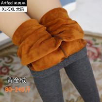 特加肥加大码女装200 160 170 180斤中年肥婆胖子MM秋冬加绒裤子