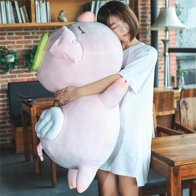 可爱天使猪公仔娃娃小猪猪玩偶大号抱枕毛绒玩具趴趴猪礼物女生日