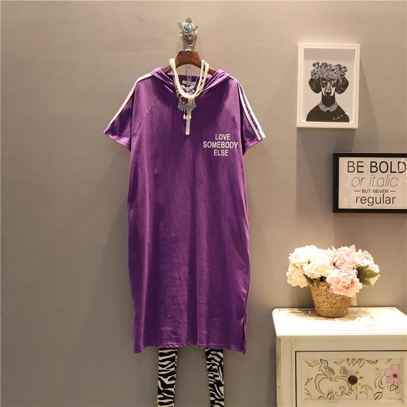 英文大码连衣裙