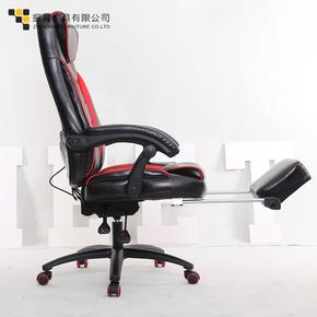 特级牛皮平躺按摩铝合金搁电脑椅办公椅子转椅组装品质奢华型包邮