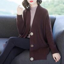 200斤胖mm加肥加大码针织开衫2018秋季女装韩版宽松休闲毛衣外套