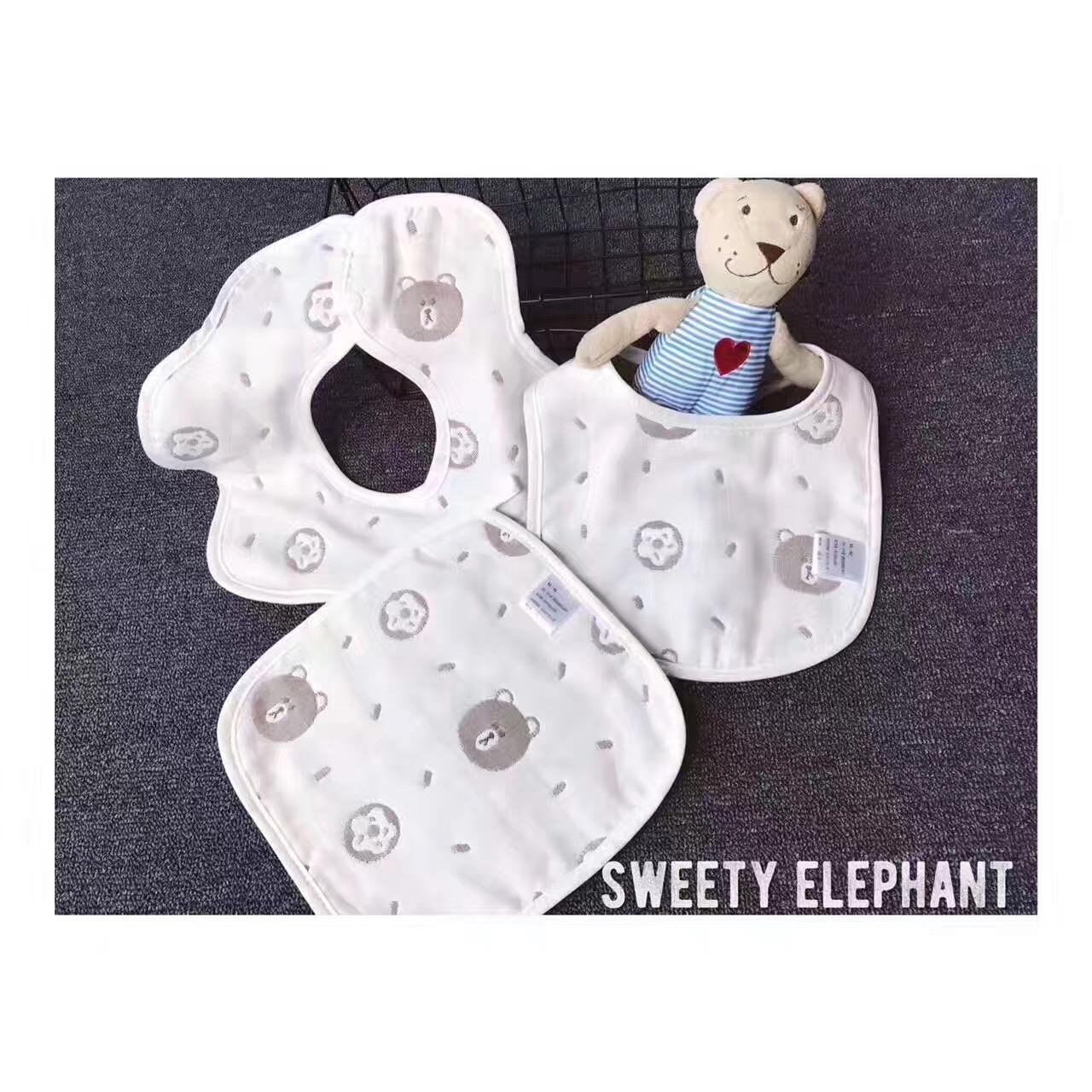 布朗熊系列 宝宝六层纱布午睡盖毯空调被子儿童成人床单双人被棉
