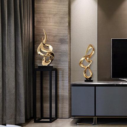 样板房客厅招财摆件树脂酒店玄关过道软装饰品雕塑工艺摆设艺术品
