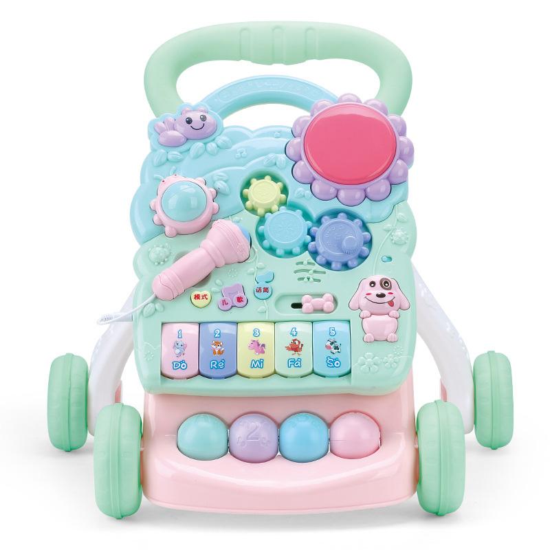 恋小猪 宝宝学步推车助步车可调速防侧翻婴儿手推车6-7-18个月