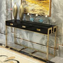 简约现代客厅不锈钢玄关钛合金玄关桌钢琴烤漆样板房定制装饰柜
