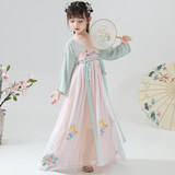 Children's Ancient Chinese Dress Girls, Children's Improvement Dresses, Long Dresses, Fairy's Ancient Dresses, Super Fairy's Elegant Full-breasted Dresses