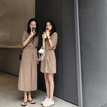 FFAN泛泛 本期推荐!闺蜜装 针织连衣裙女夏2018新款中长款裙子