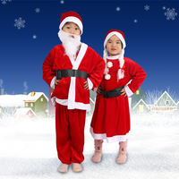 Children's Christmas Costumes Adult Men and Women Set Santa Claus Costumes Performance Dress Up Dress Set
