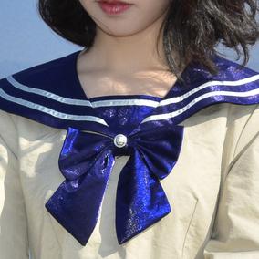 软软的露西《玻璃纸之夜》复古海军领少女水手服连衣裙