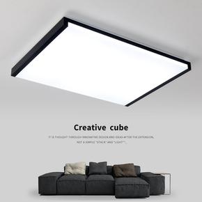 led吸顶灯现代简约大厅卧室灯超薄亚克力长方形灯饰家用客厅灯具