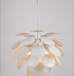 简约现代创意艺术吧台餐厅客厅卧室书房圆片二代松果吊灯正品包邮