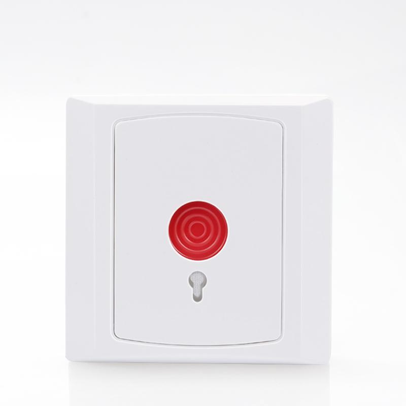 钥匙复位 PB-28紧急按钮报警器手动报警按钮 银行用86盒消防开关