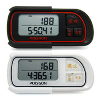 Polygon3D Sports Pedometer Watch Calorie Consumption Walking Running Step Counter