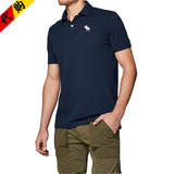 American af short-sleeved t-shirt male lapel deer half-sleeved cotton Slim Paul short t solid color business casual polo shirt