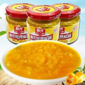 海南特产 春光黄灯笼辣椒酱100g特辣味3瓶超辣香辣蒜蓉黄椒酱