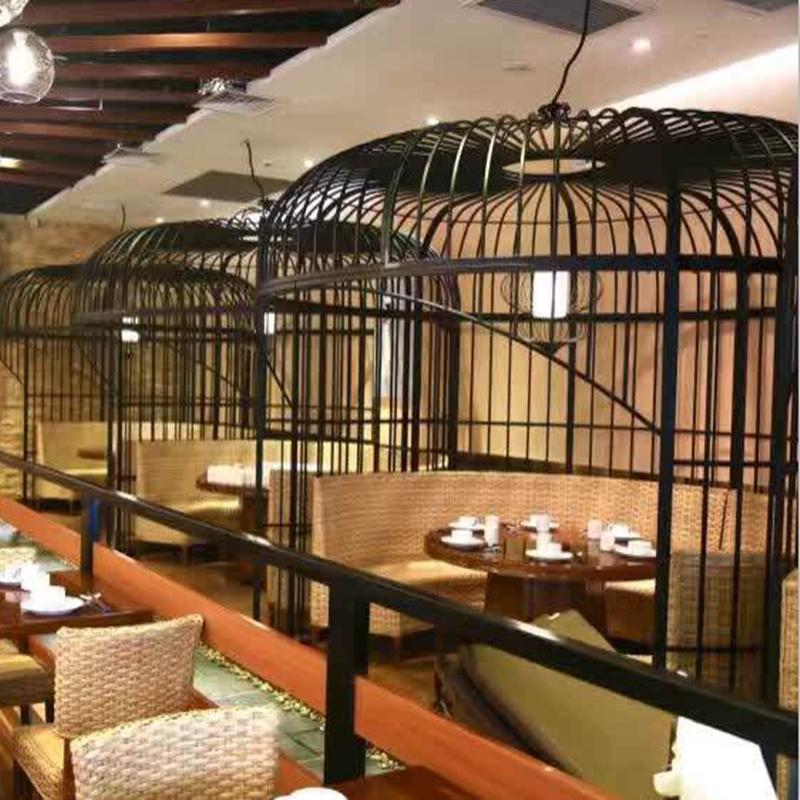 铁艺大号鸟笼酒店餐厅婚庆鸟笼咖啡厅奶茶店装饰摆件大型鸟笼定做