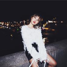 羽毛公主衫 甜美仙气质上衣女 灯笼袖 超仙2017初秋新款 TKSTYLE定制