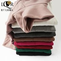 秋冬保暖修身显瘦韩版大码2017新款女长袖百搭高领加绒加厚打底衫