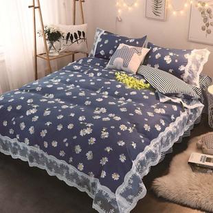 公主风纯棉四件套床裙全棉蕾丝花边被套床上用品1.5m/1.8米2m床罩