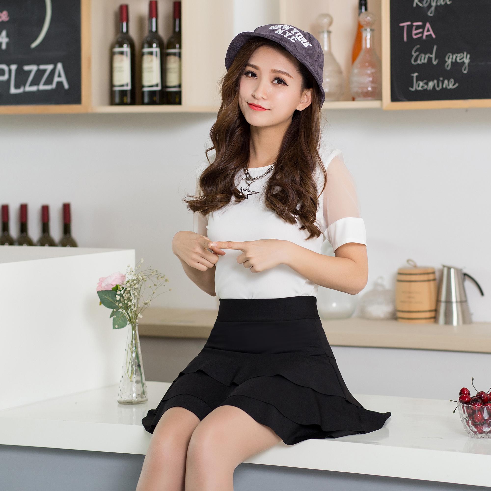 秋冬蛋糕短裙裤