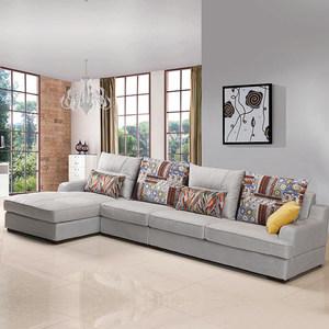 大班沙发 布艺沙发 可拆洗超柔印花面料 WG1604A