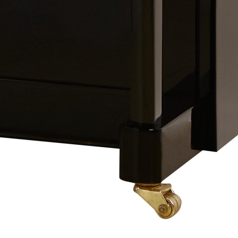 125B GA 高端立式家用教学专业黑色拼花 德国进口门德尔松钢琴