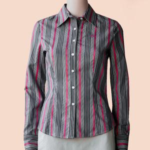 PRICH专柜国内代购休闲通勤长袖女衬衫经典条纹OL风衬衣PRYS04T05