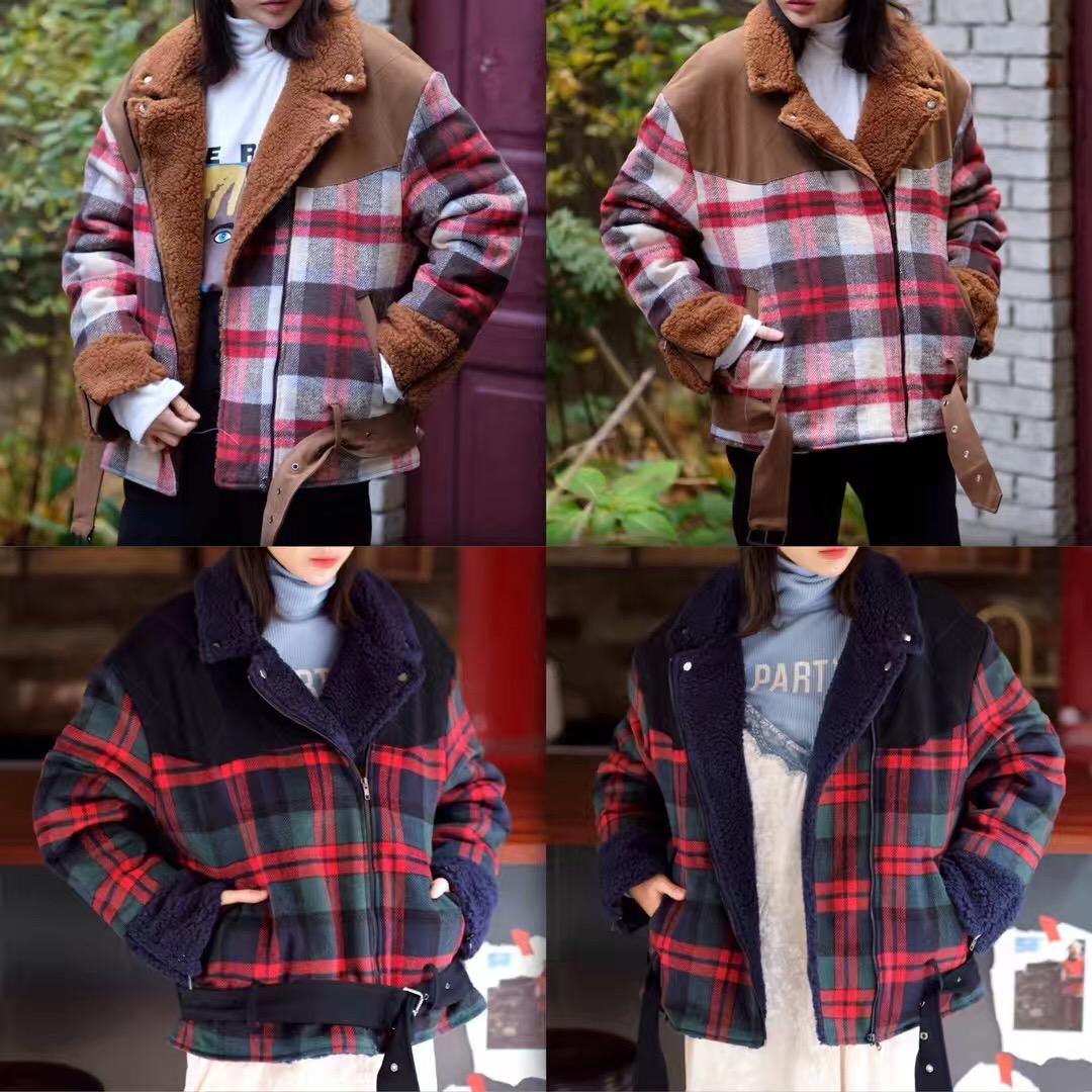 小崔家韩国东大门代购18冬季新品gentlewoman-108卷边袖插兜外套