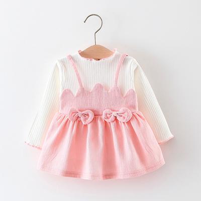 2018春装婴儿童装0-1-2-3岁儿童女宝宝春秋季连衣裙女童公主裙子
