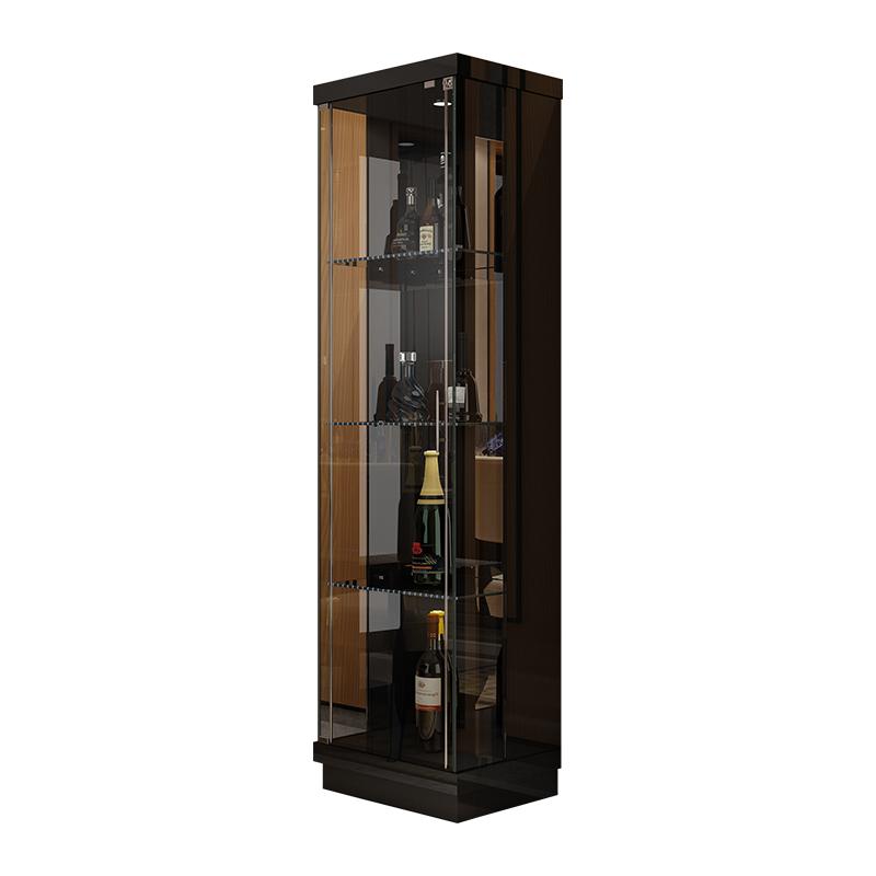康丽诗客厅小酒柜时尚钢化玻璃客厅储物柜装饰柜单双门酒柜餐边柜
