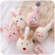Ins earmuffs female winter warm Korean version of the cute winter antifreeze plush students windproof rabbit rabbit ears girl